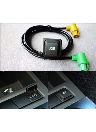 Techmaster Vw Passat Jetta Golf Mk5 Mk6 Rcd510 Teyp Usb Bağlantı Kablo Sku7 Renkli